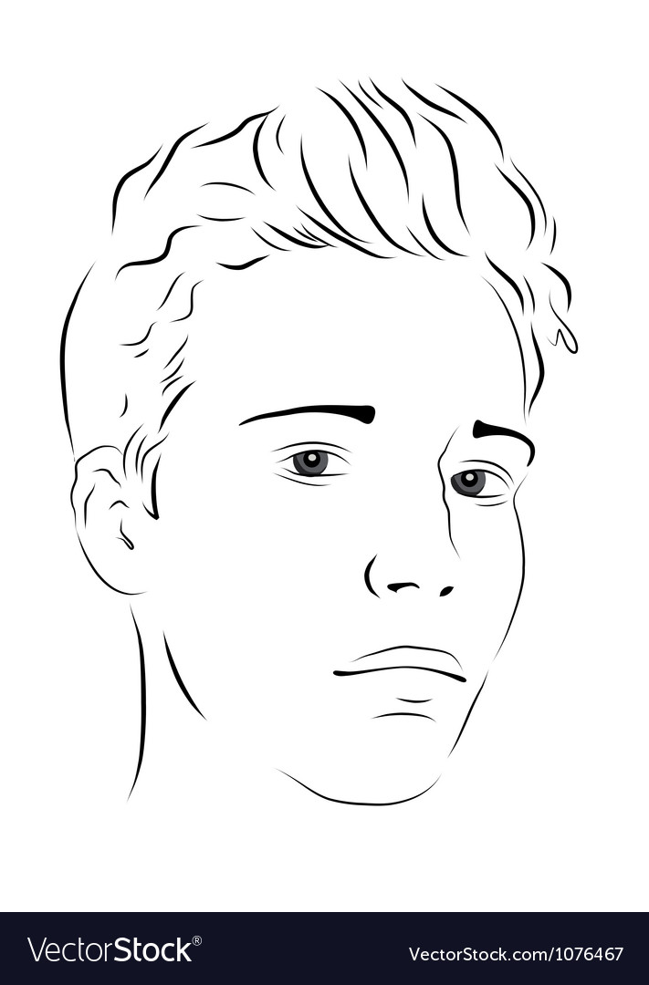 Young man Vector Image