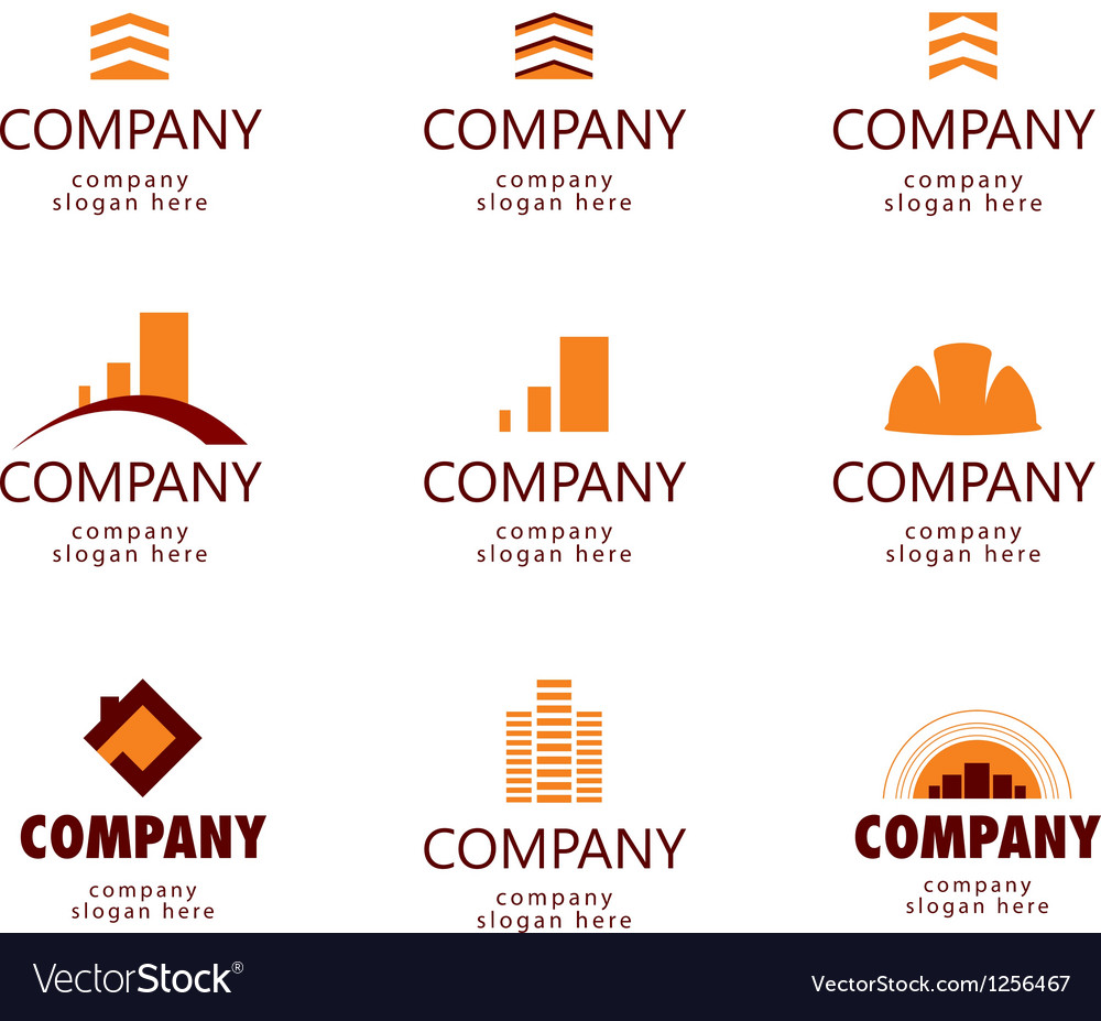 Construction and Real Estate logo vector image