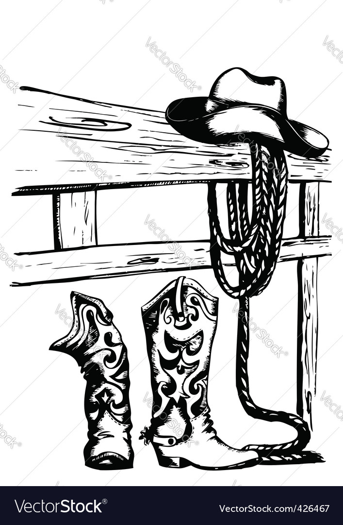 Cowboy gear vector image