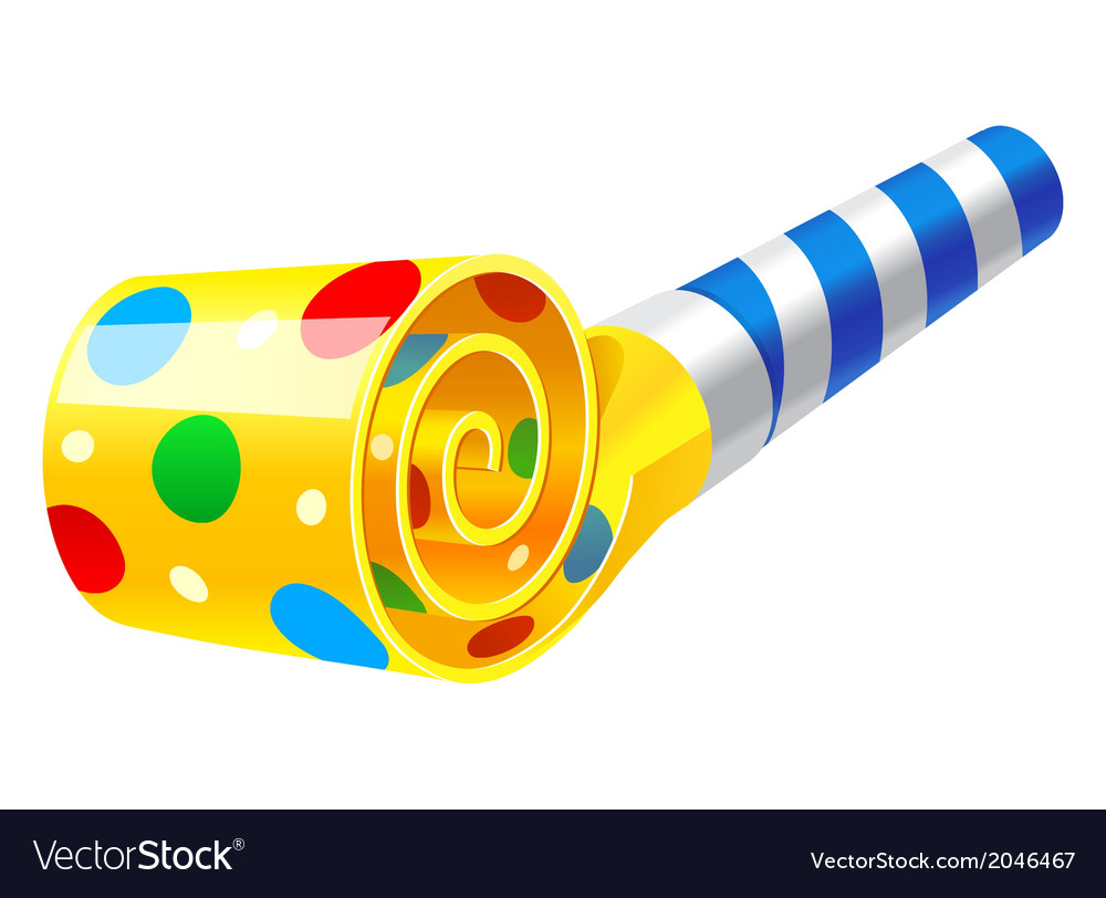 Party Blower: Party Horn Blower Royalty Free Vector Image