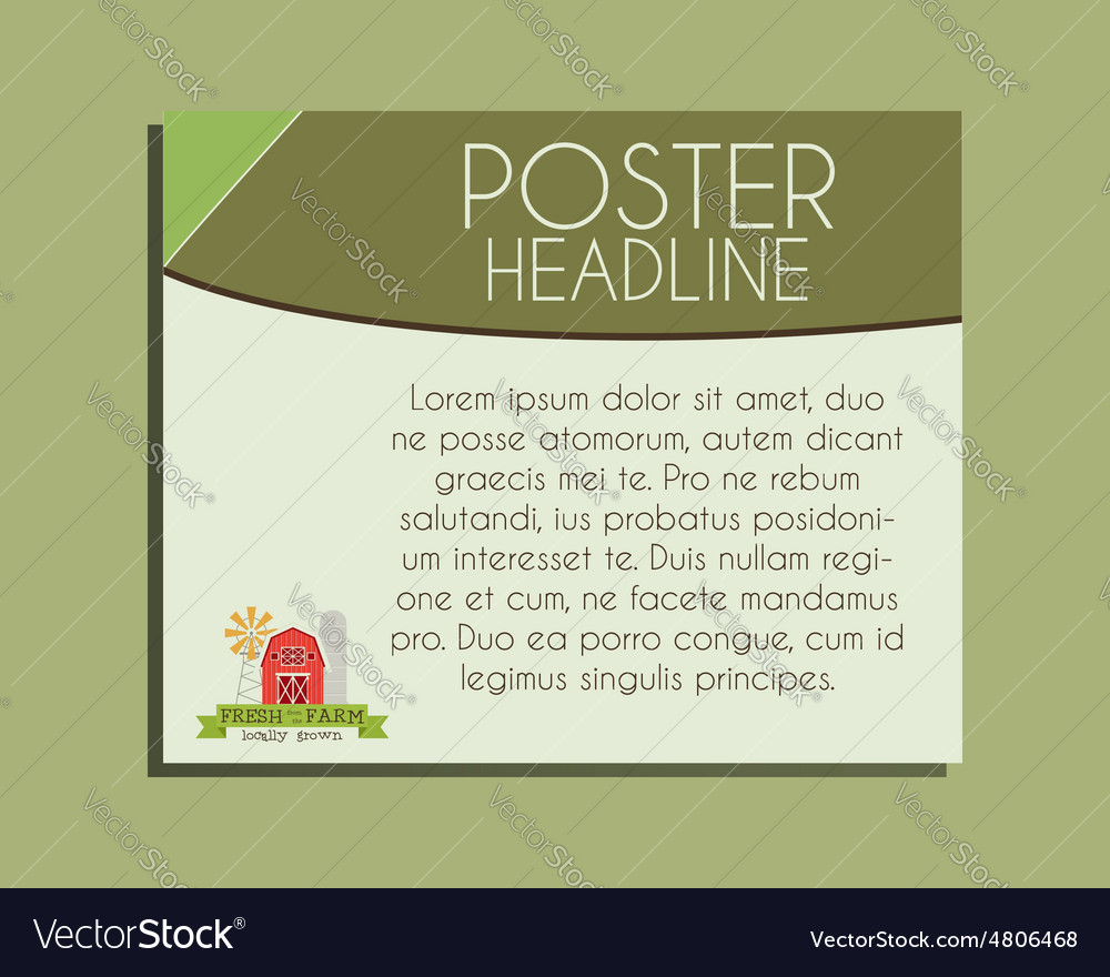 Ecology banner Organic farm and natural products vector image