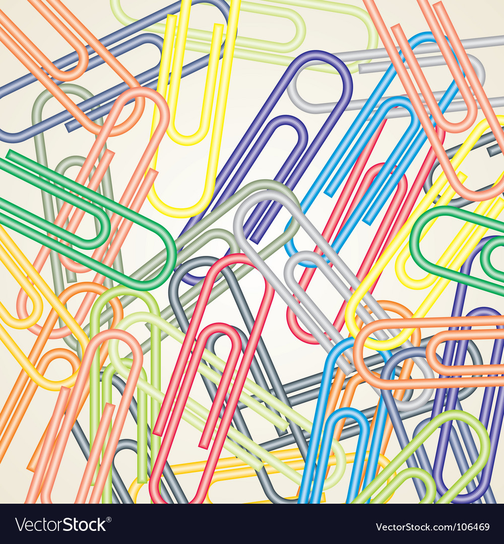 Paper clip background vector image
