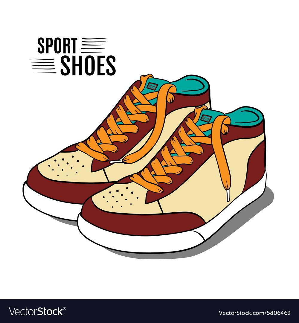 cartoon sport shoes royalty free vector image vectorstock
