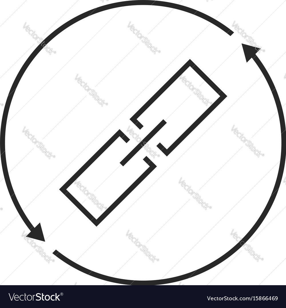 Link exchange thin line icon vector image