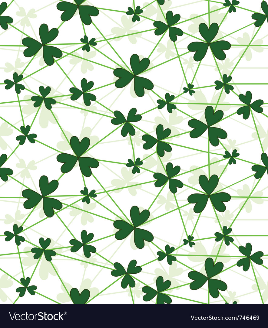 seamless flower shamrock royalty free vector image