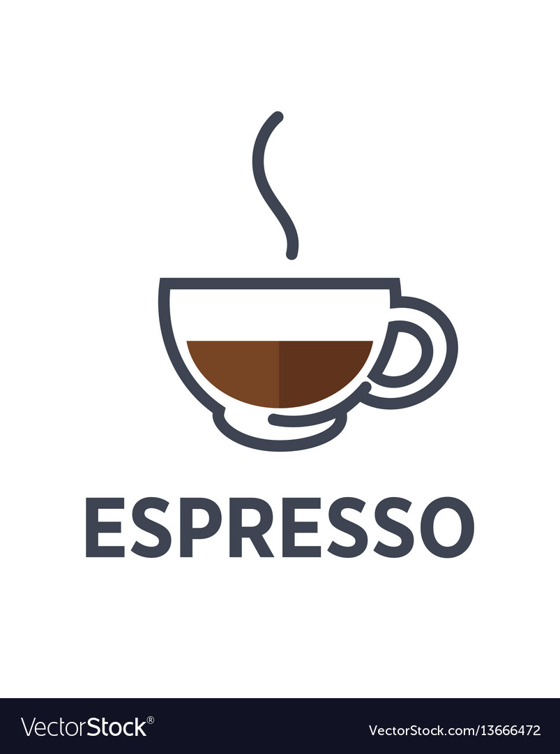 Coffee espresso drink steam cup flat cafe vector image