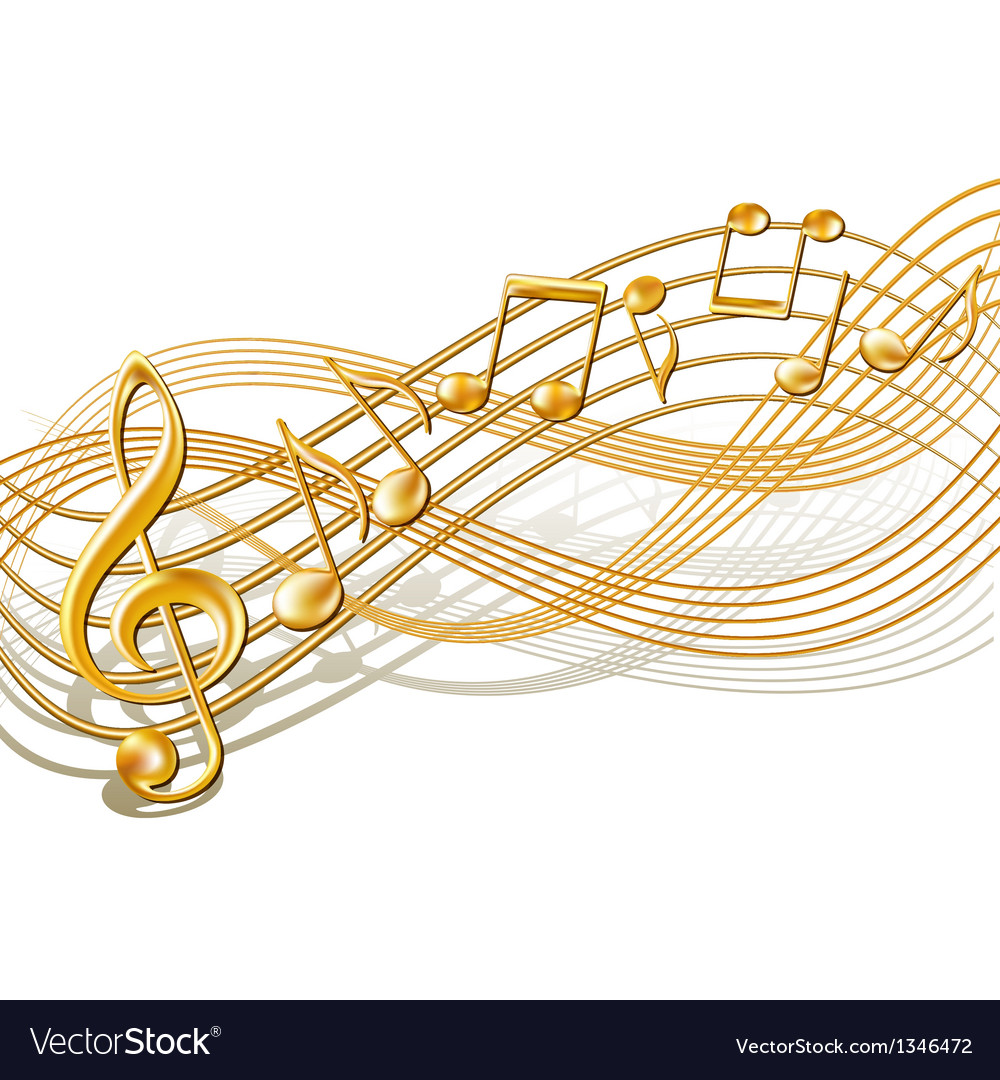 Musical notes staff background on white vector by tassel78 image - Musical Notes Staff Background On White Vector Image