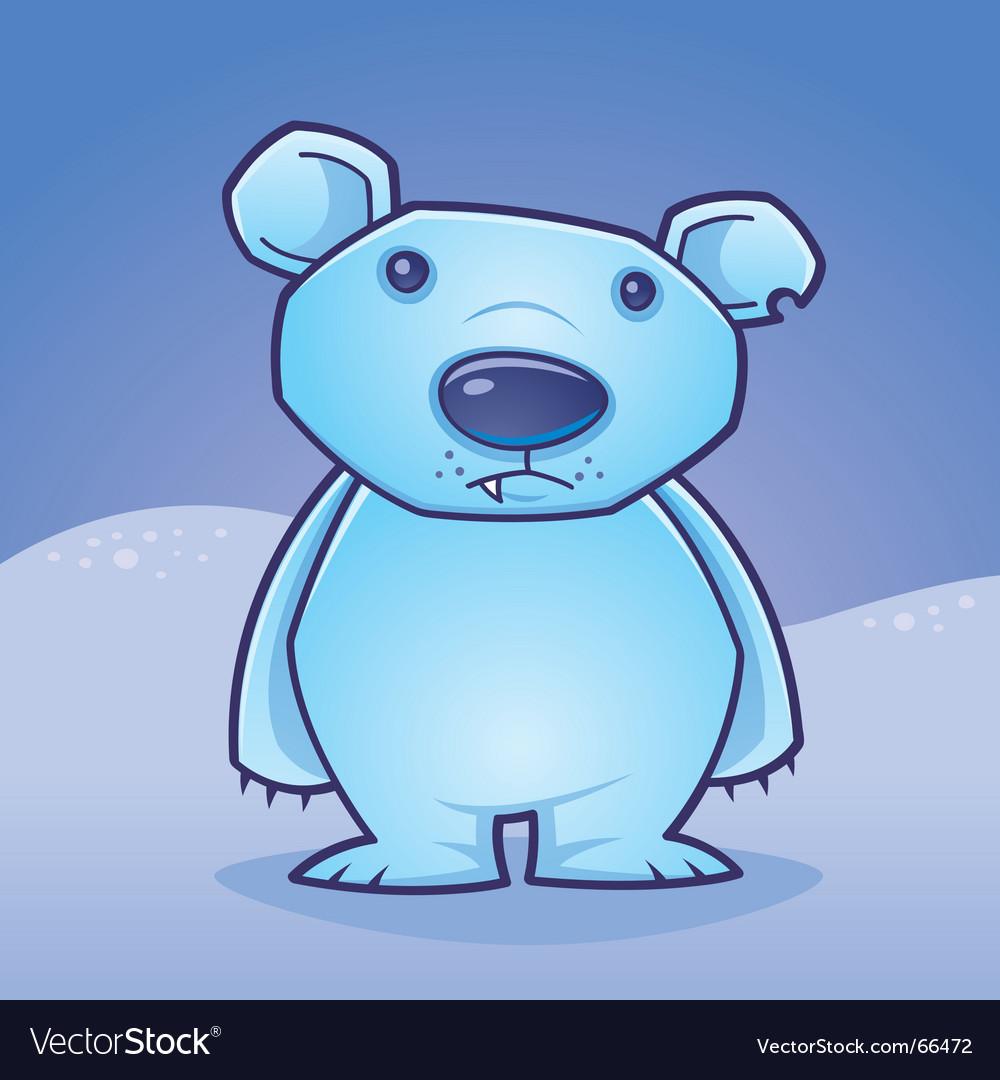 Polar bear cub vector image