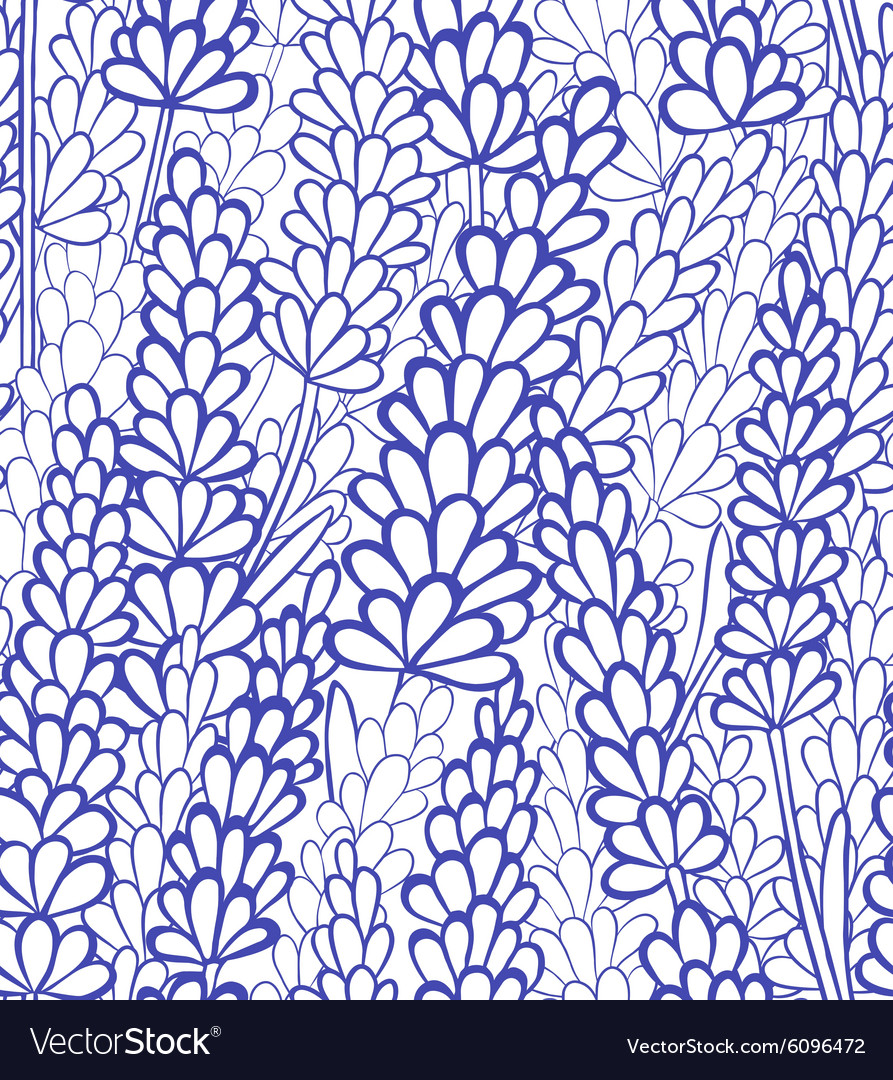 Seamless lavender background vector image