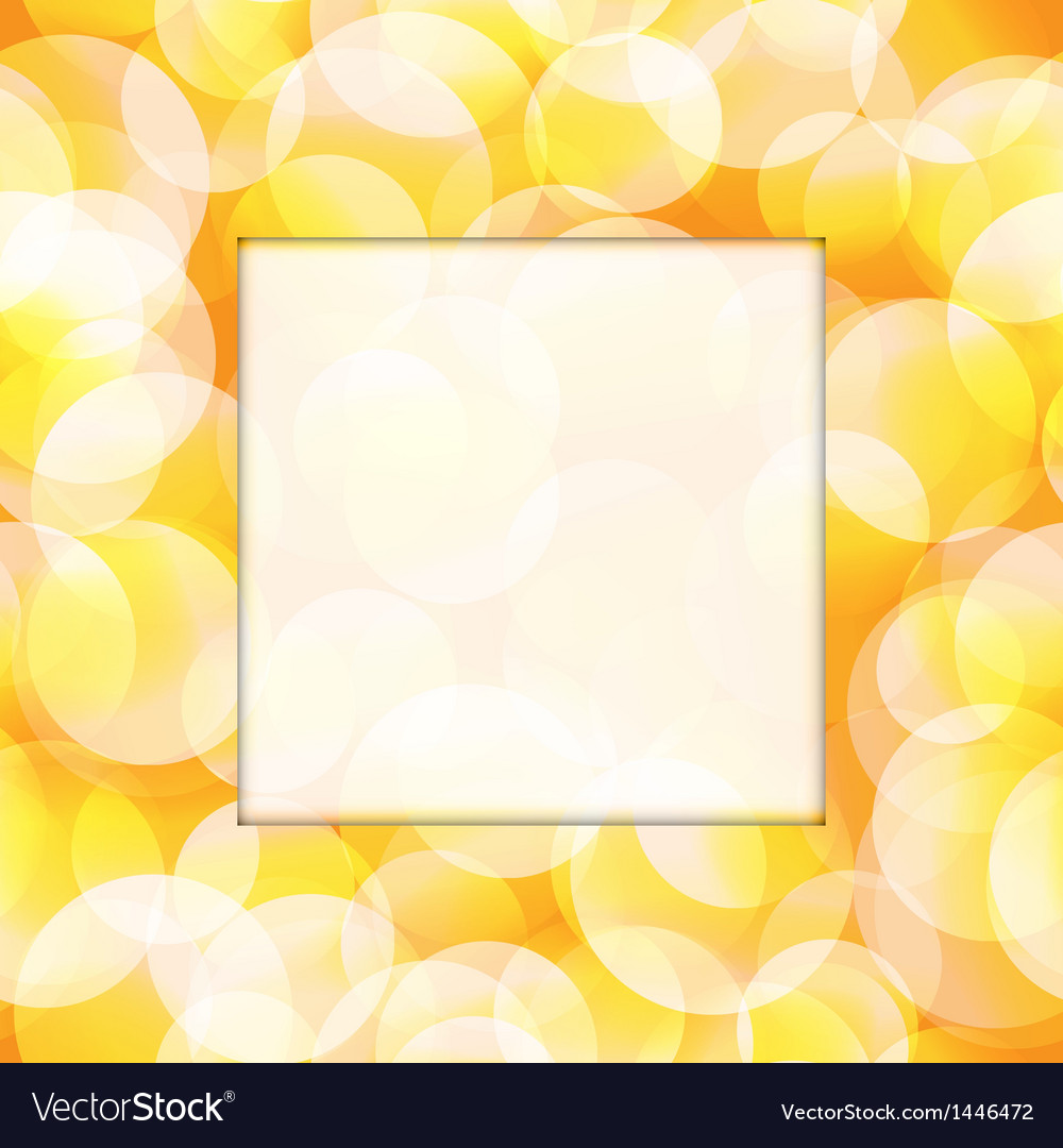 Yellow frame vector image