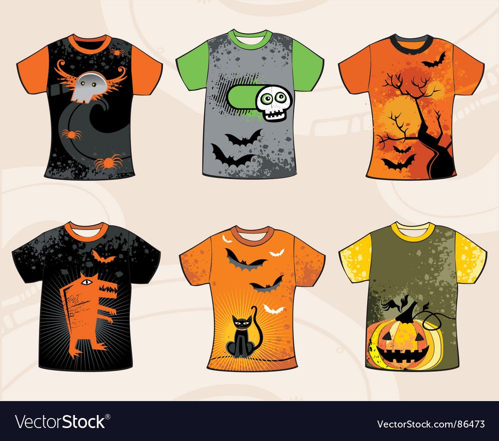 Halloween t-shirts Royalty Free Vector Image - VectorStock