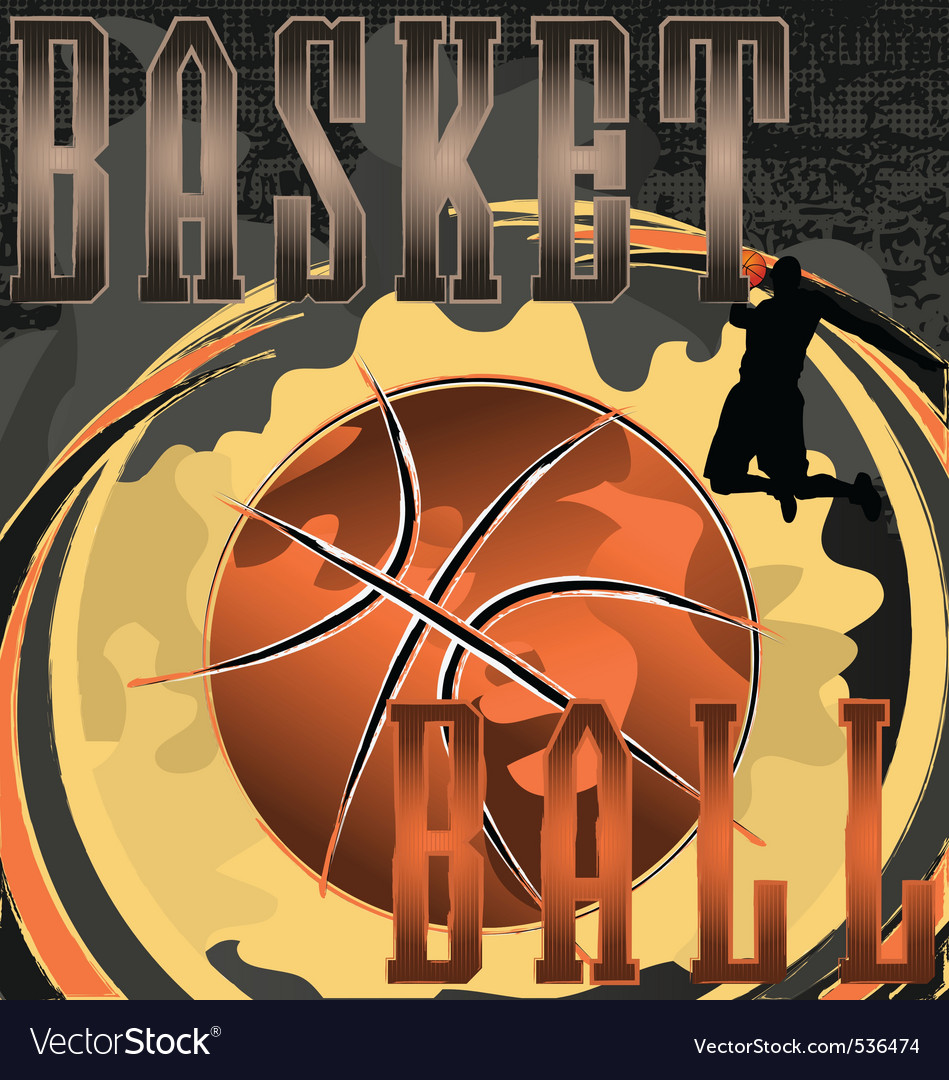 Basketball abstract poster vector image