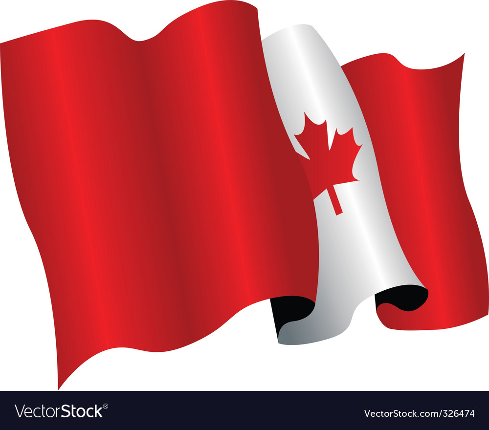 canada flag royalty free vector image vectorstock