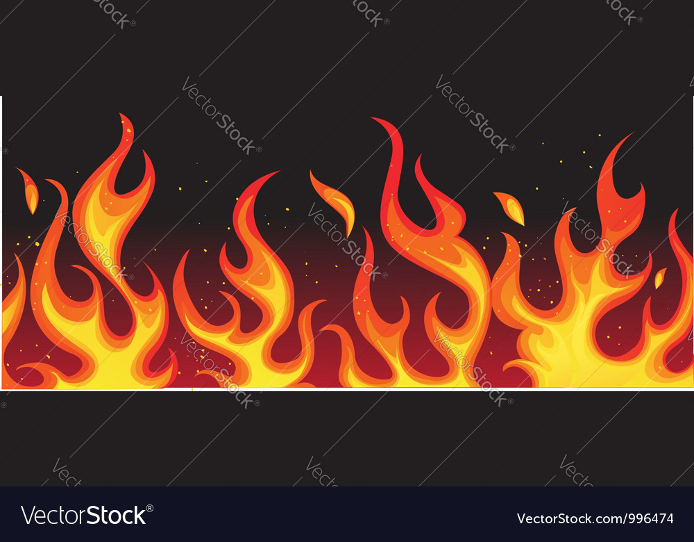 Fiery Flames Background vector image