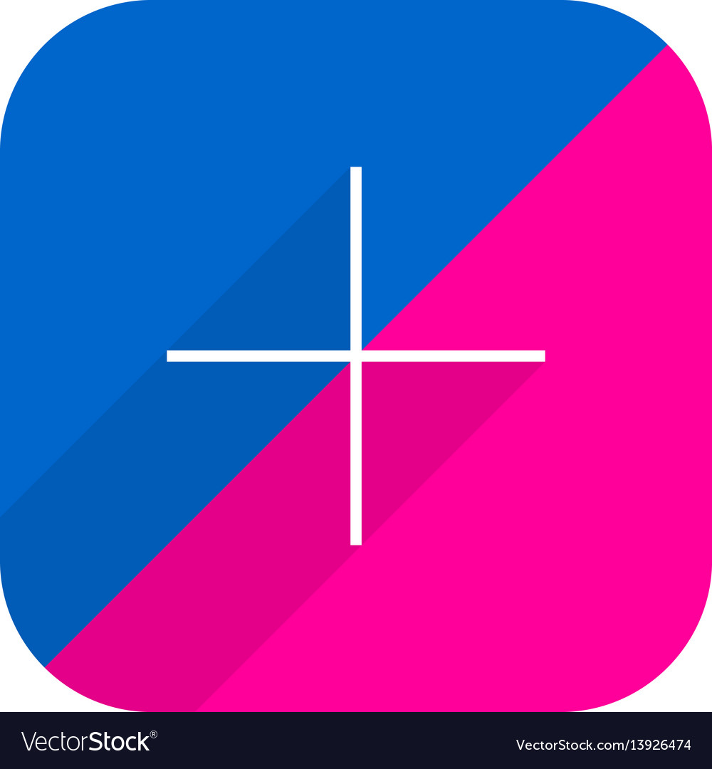 Flickr social network icon add followers vector image