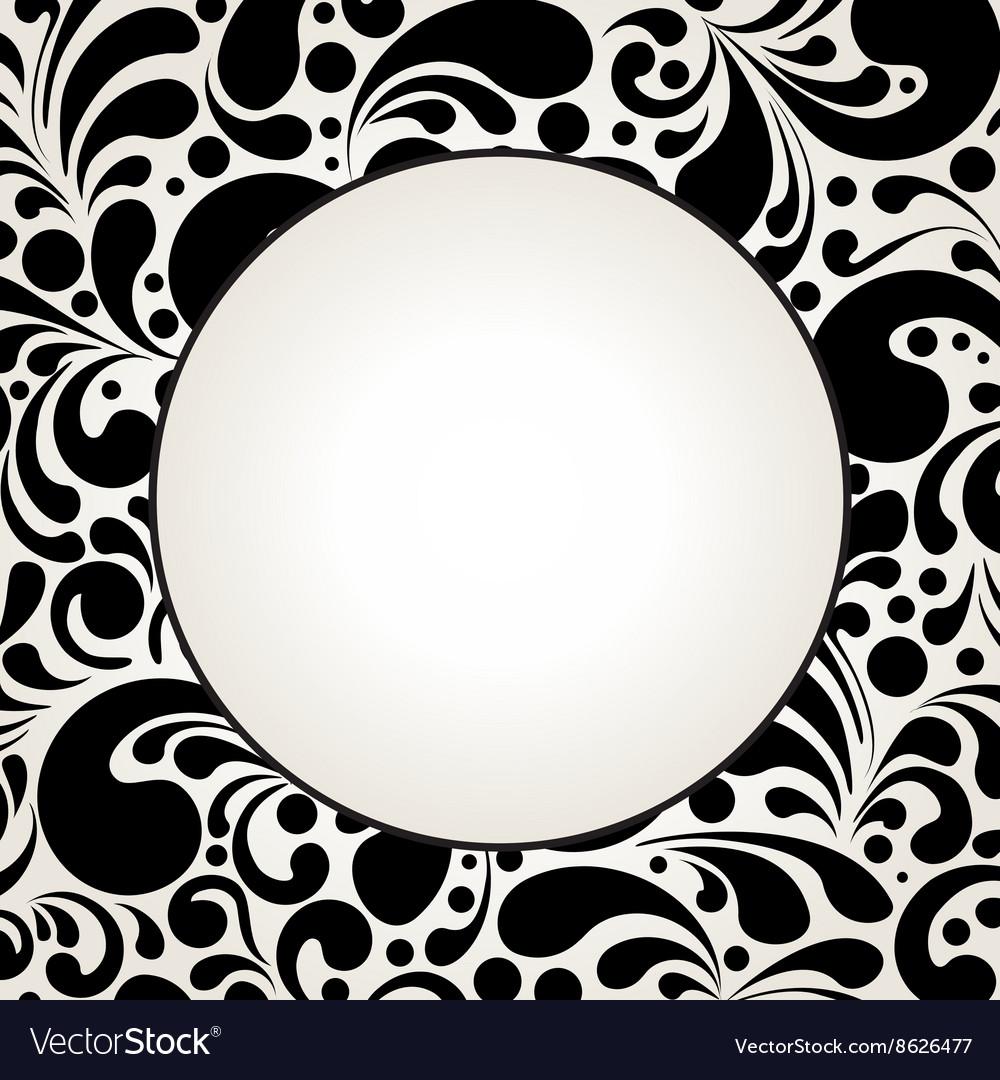 Black curves circle2 vector image