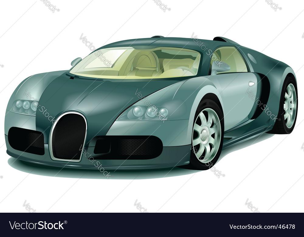 Bugatti Veyron vector image