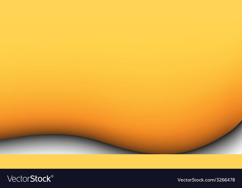 Yellow liquid background vector image