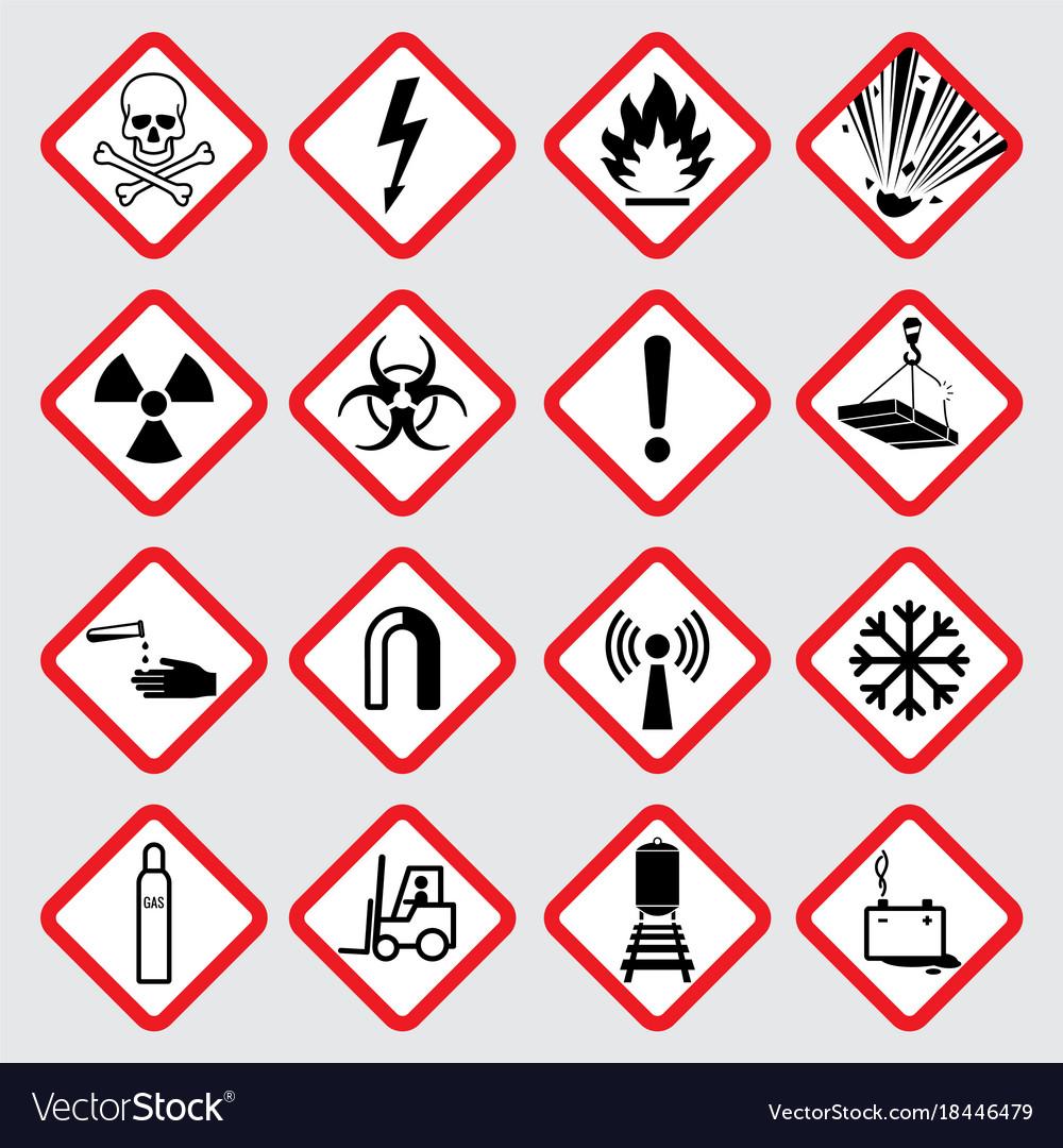 Warning hazard pictograms royalty free vector image warning hazard pictograms vector image buycottarizona