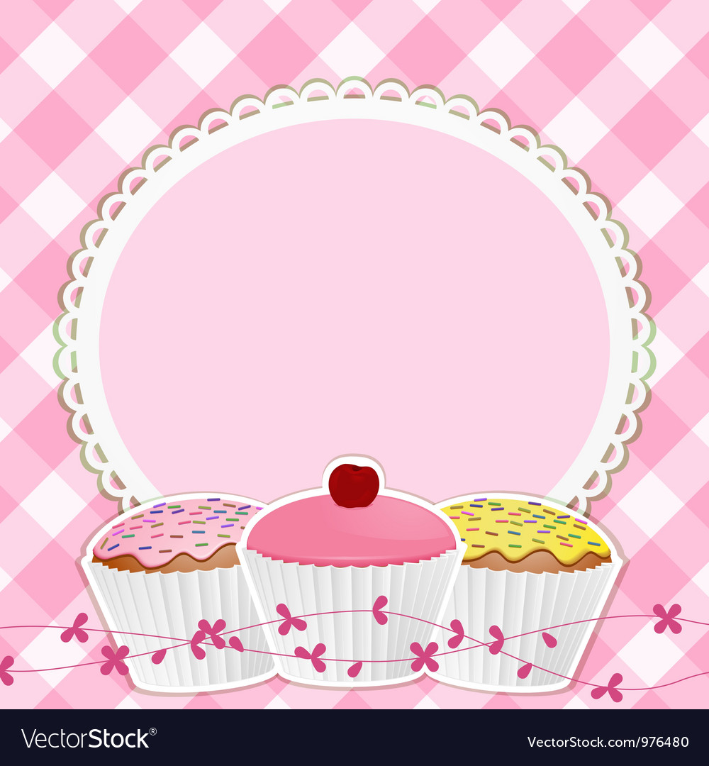 Cupcakes Background Royalty Free Vector Image