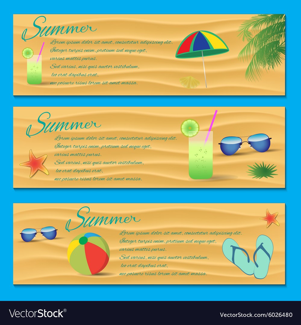 Summer flyer template royalty free vector image summer flyer template vector image saigontimesfo