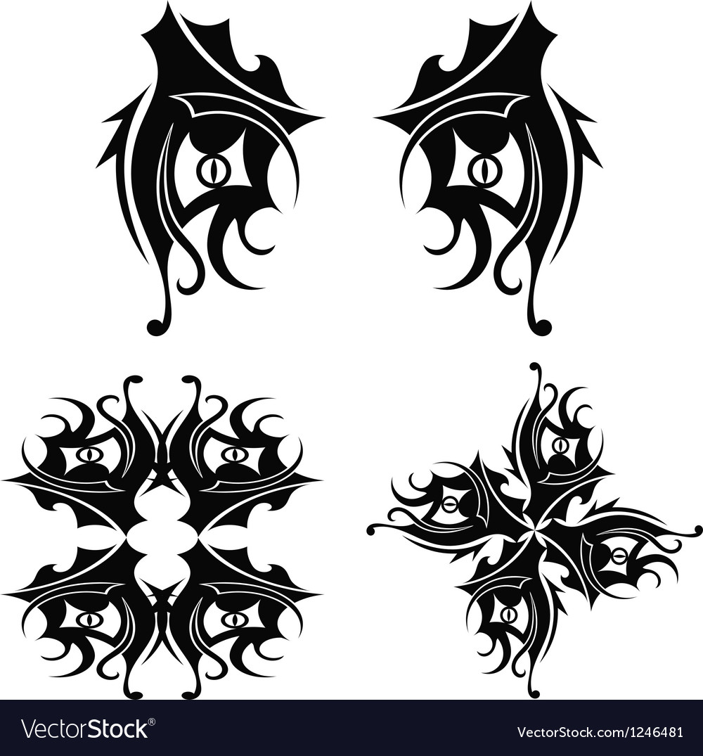 Graphic design Tribal tattoo vector image