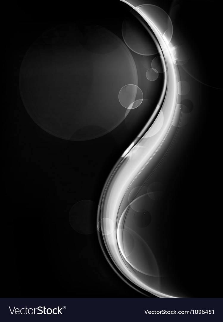 Black Abstract background vector image