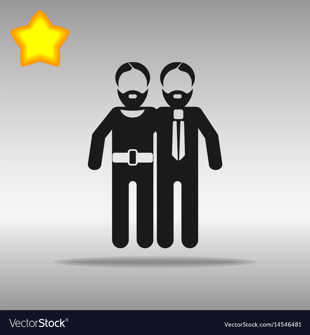 Gay black icon button logo symbol concept vector image