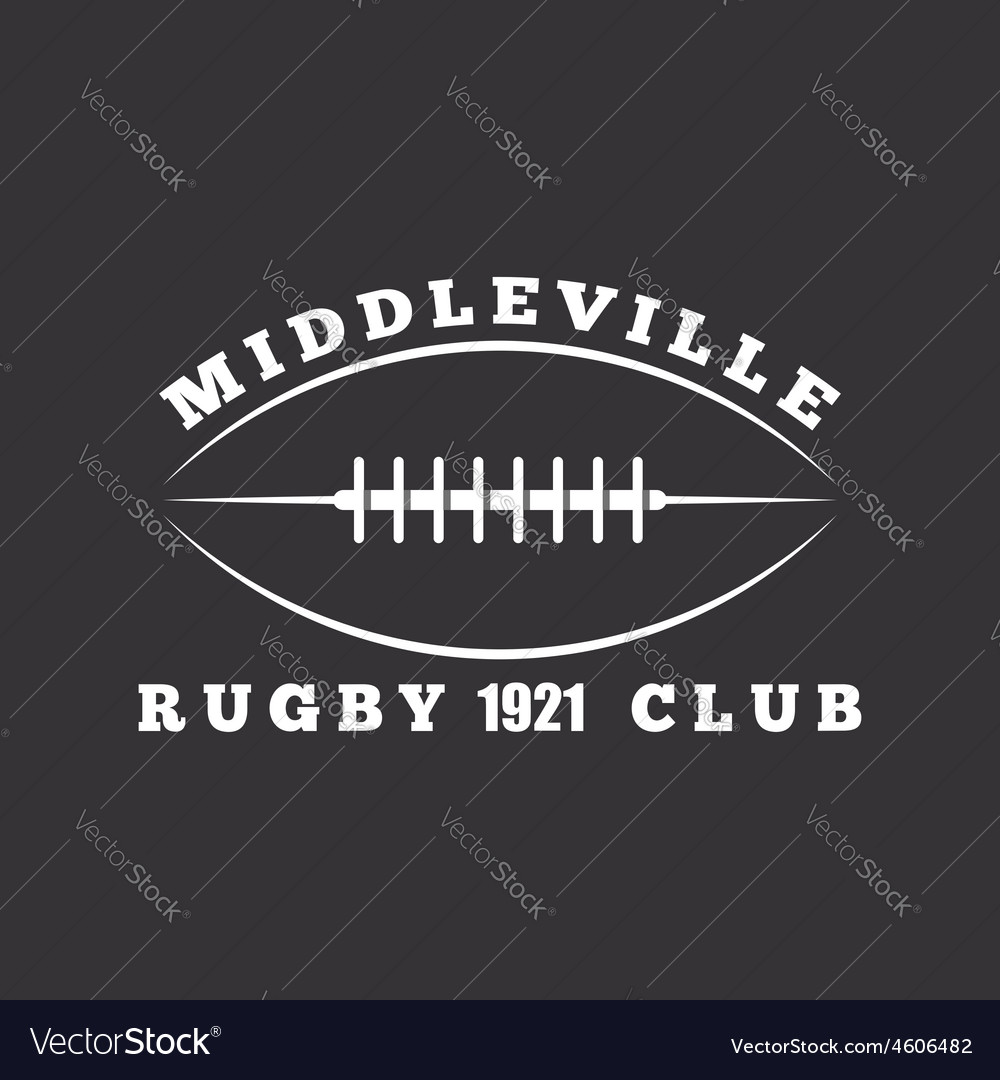 American football or rugby ball club logo template vector image