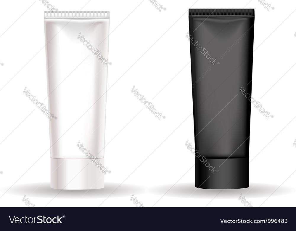 Black white cream tube vector image