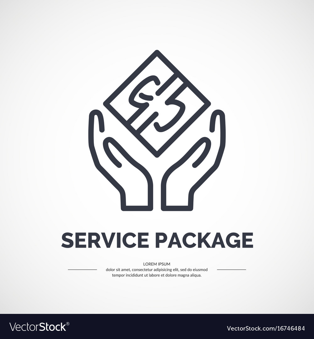 Linear icon for service on delivery and packaging vector image