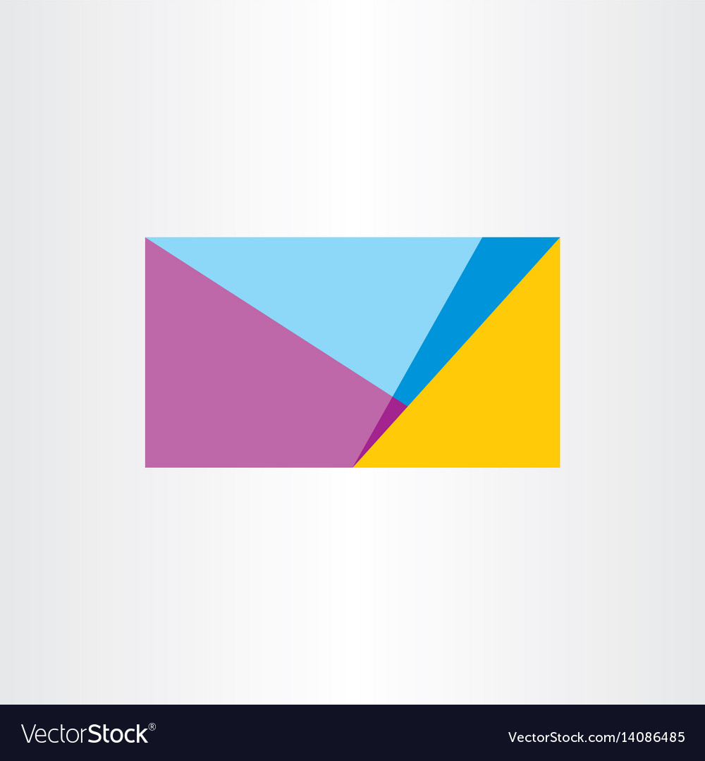 Abstract geometric business card background design