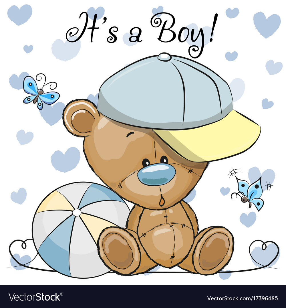 how to make a teddy bear greeting card