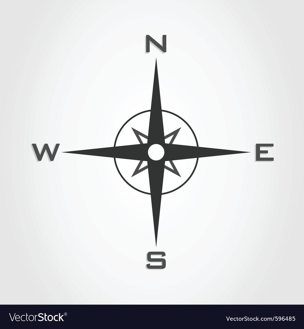 Compass world vector image