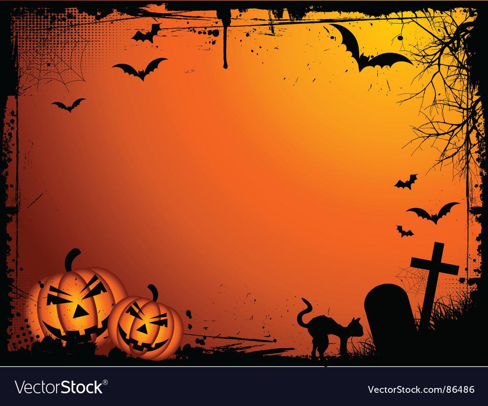 Grunge Halloween vector image