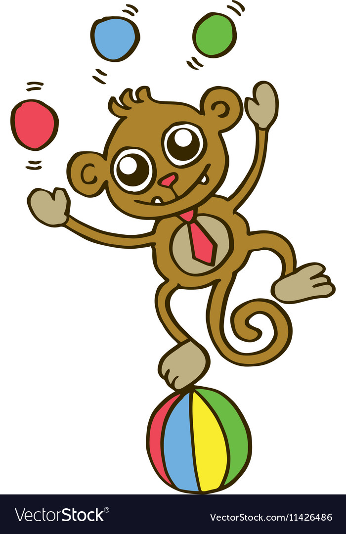 Funny monkey t-shirt design for kids vector image