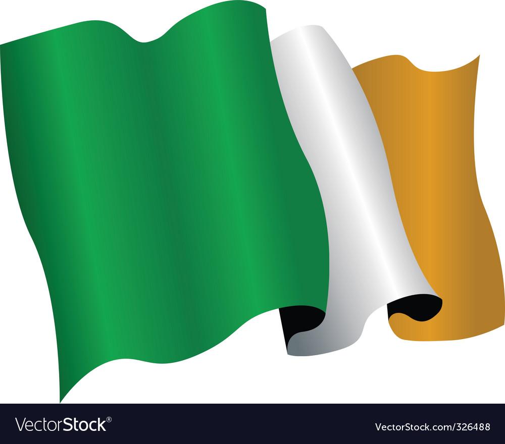 ireland flag royalty free vector image vectorstock