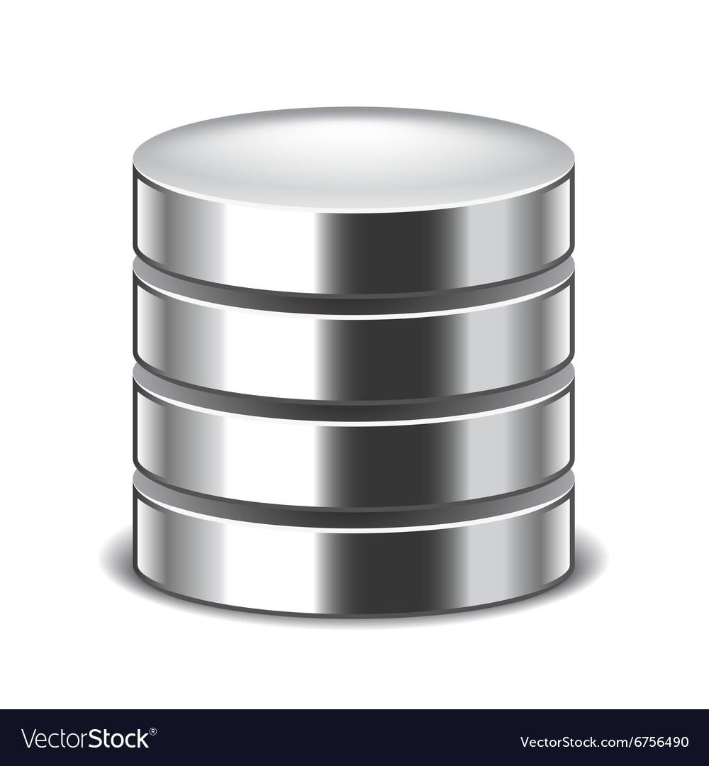 Database isolated on white vector image