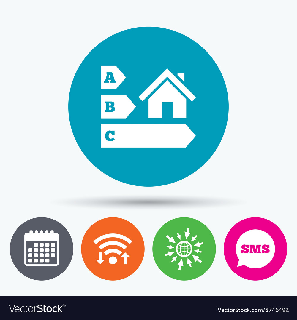 Energy efficiency icon house building symbol vector image biocorpaavc Image collections