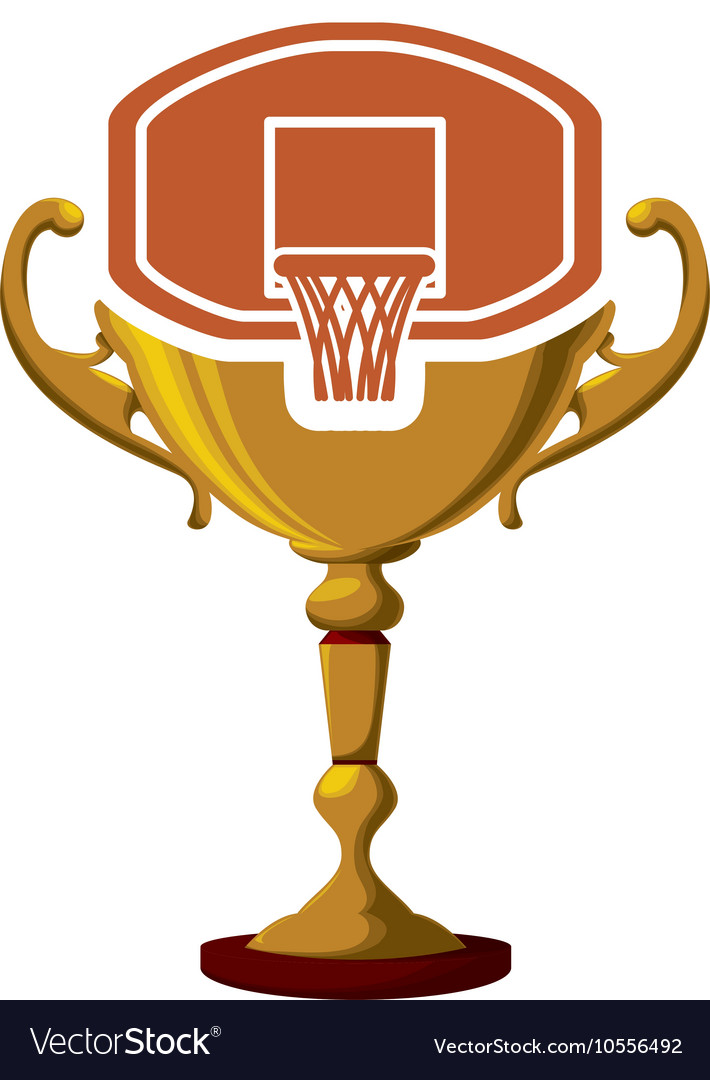 Gold Trophy And Basketball Design Vector Image