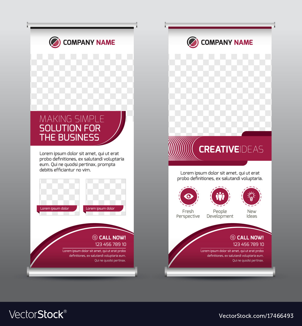 Multipurpose business roll-up banner vector image