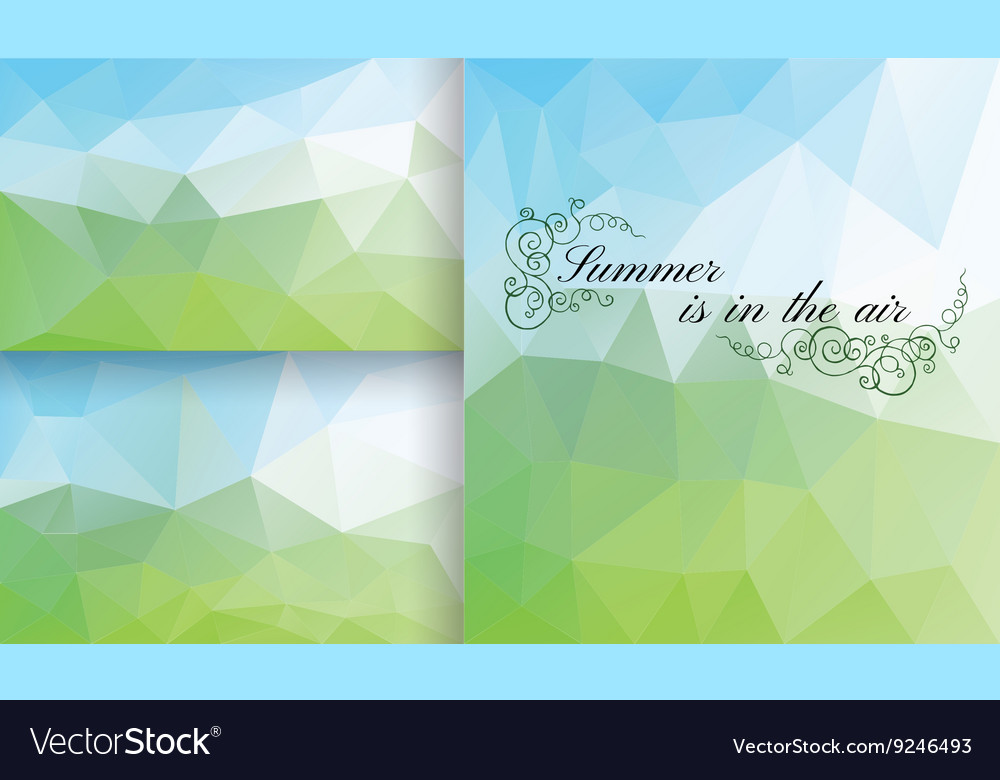 Poligon Background Summer vector image