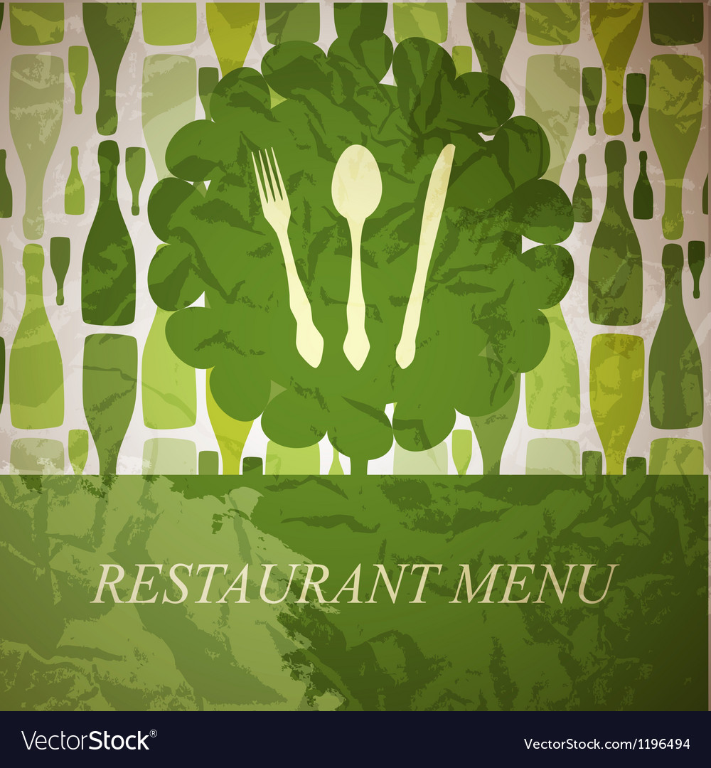 The concept of Restaurant menu vector image