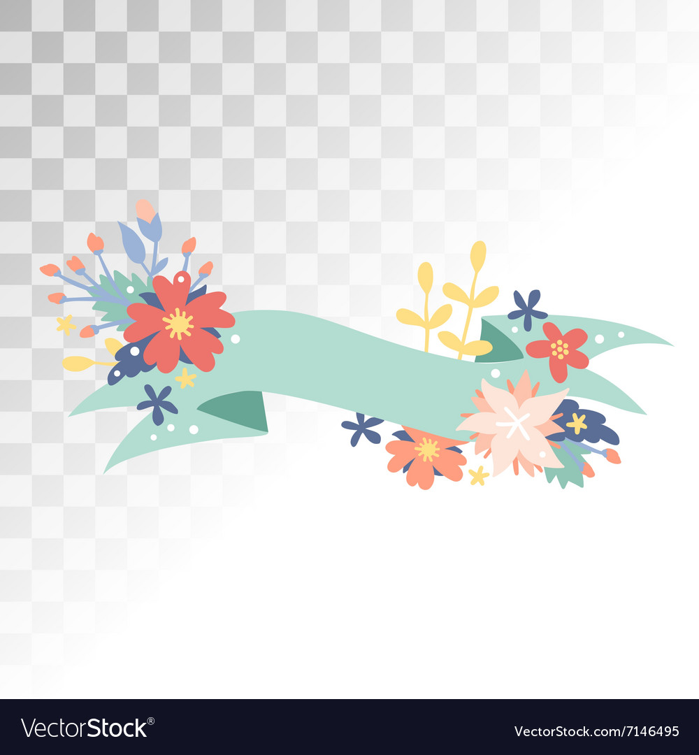 Vintage Valentine Day decoration flowers vector image