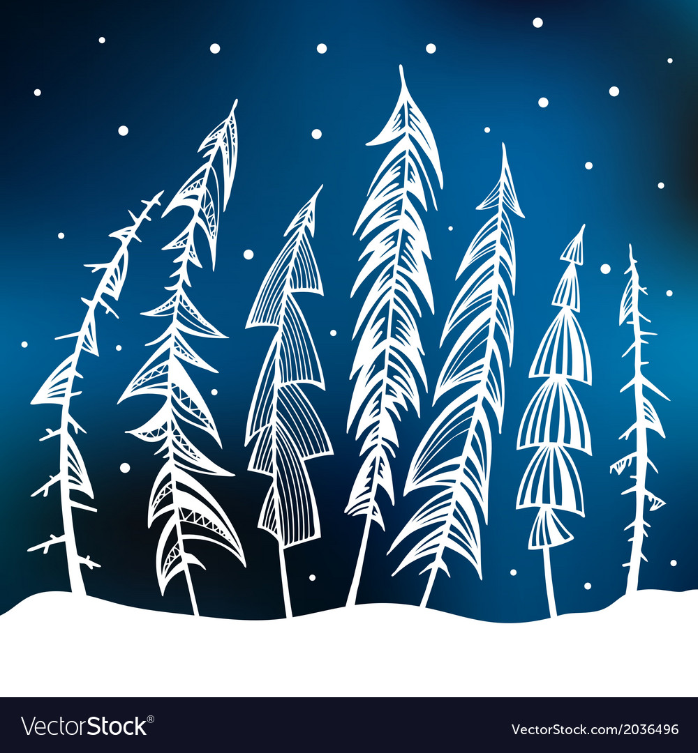 Forest Winter background vector image