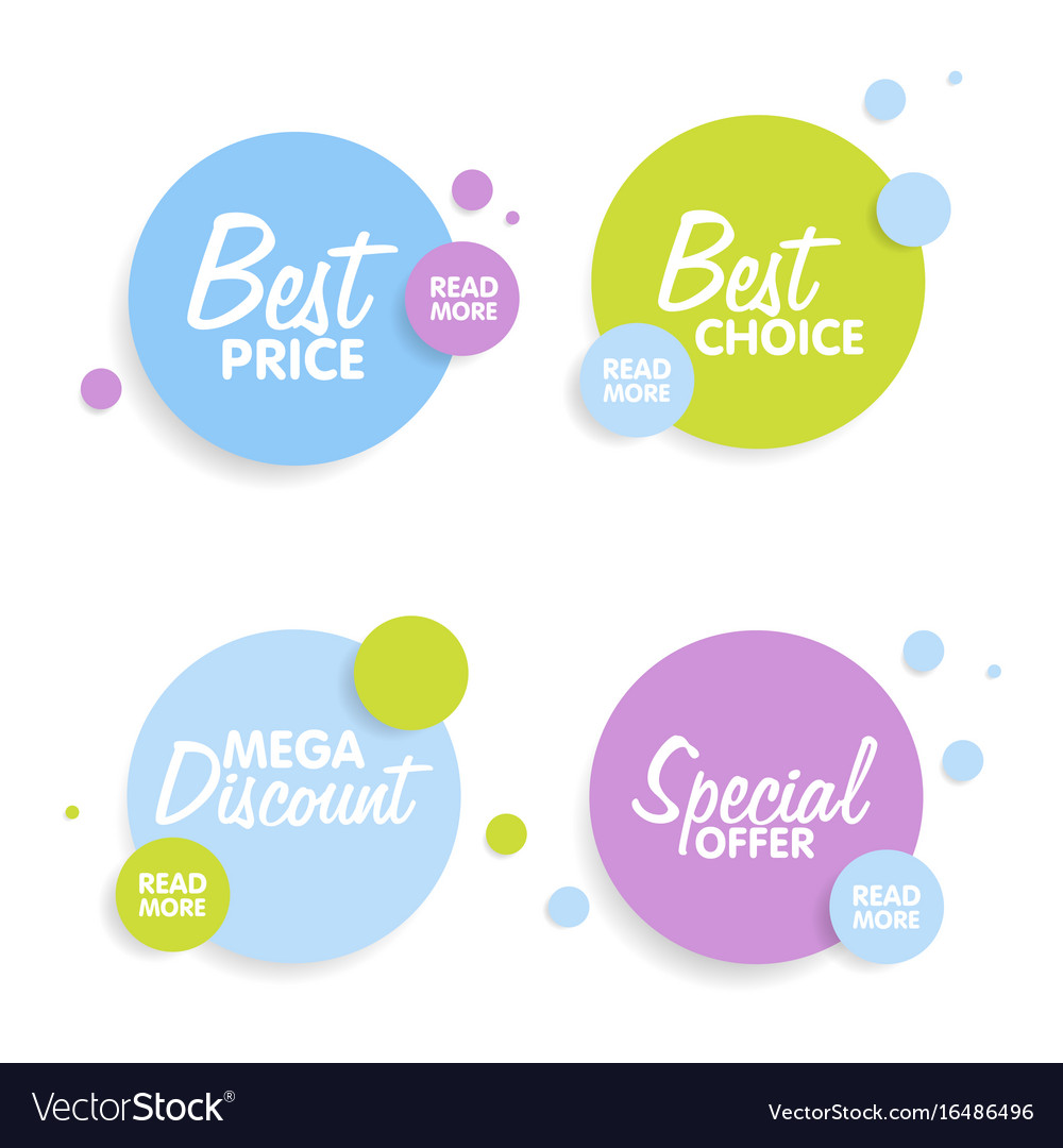 Set of round colorful shapes abstract banners vector image