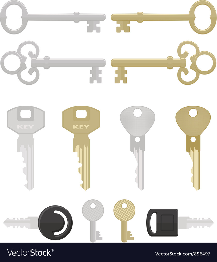 Twelve keys vector image