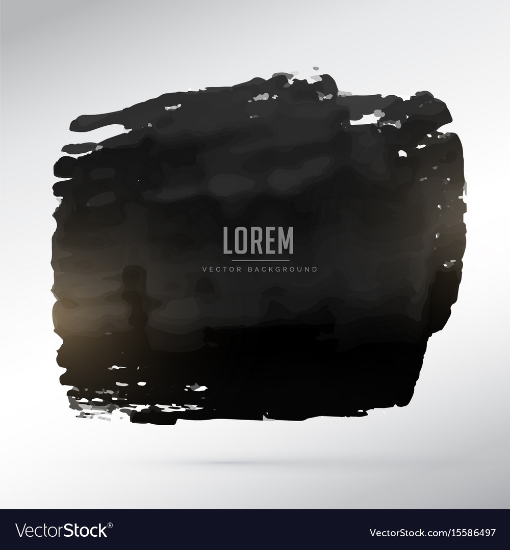 Abstract black grunge frame background vector image