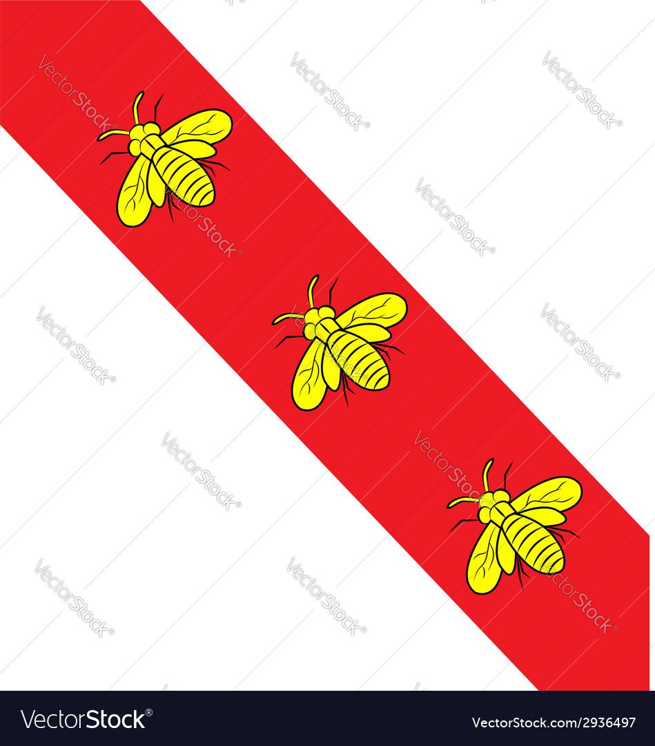 Island elba flag vector image