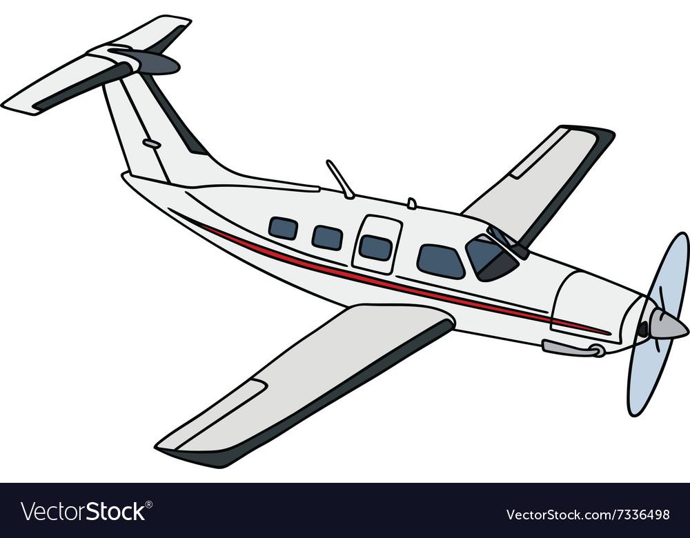 White propeller airplane vector image